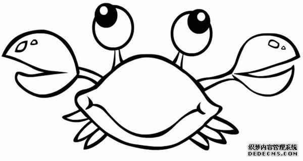 幼儿简笔画线描素材海洋动物鱼素材〔图解〕