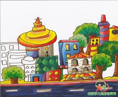 未来想象城市一角初中版图画图片 未来城市想象绘画,未来的城市想象