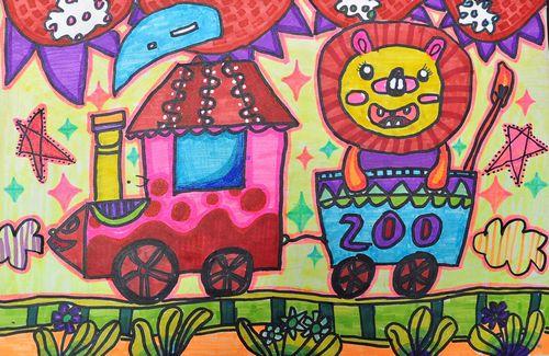 动物园 少儿绘画作品 儿童画 网络美术馆