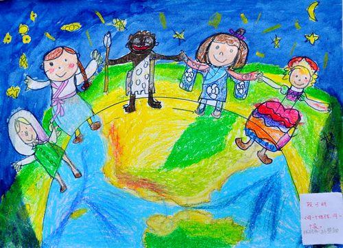 保护地球环境儿童画图片大全_保护地球_儿童画_美术作品_作