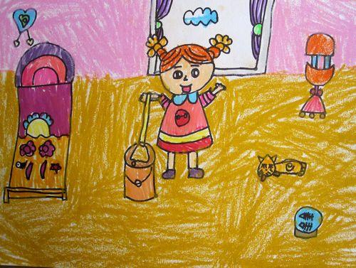 做家务的图画 机器人做家务图画大全 帮忙做家务的儿童图画