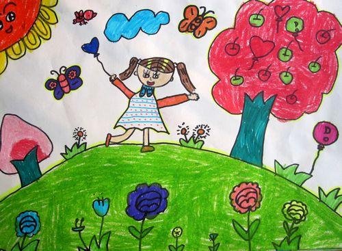 春天到了/少儿绘画作品/儿童画/网络美术馆