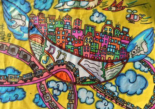 美丽的城市我的家/少儿绘画作品/儿童画/网络美术馆图片