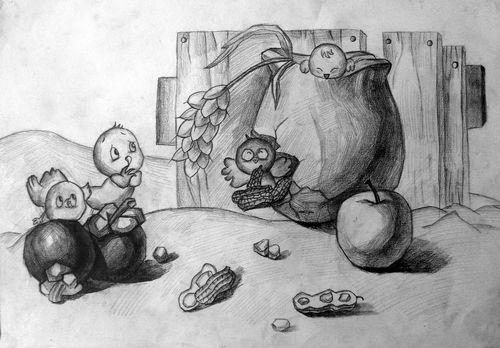 素描   展   素描   和山竹   罐子   素描   结构   素描