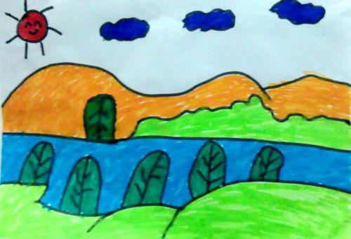 美丽的风景/少儿绘画作品/儿童画/网络美术馆