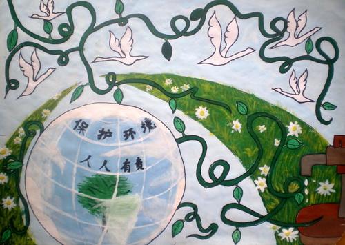 保护环境/少儿绘画作品/儿童画/网络美术馆