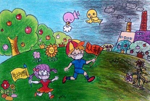 环保画-环保垃圾桶图片大全-保护环境简笔画-环保主题儿童画简笔画