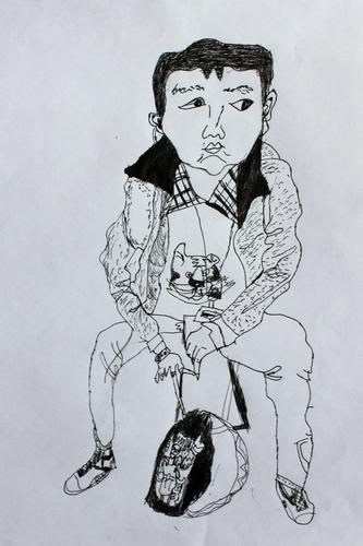 人物 速写 少儿 绘画作品 儿童画 网络美术馆 中