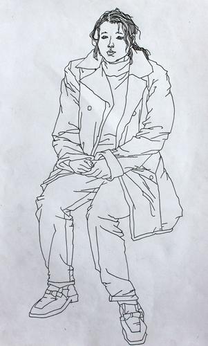 人物速写 少儿绘画作品 儿童画 网络美术馆   人物速写 少