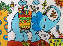 大象卡通画图片大全 卡通画人物图片大全 手绘卡通画图片