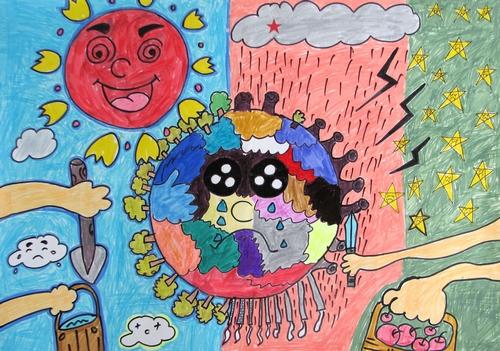 保护地球 少儿绘画作品 儿童画 网络美术馆