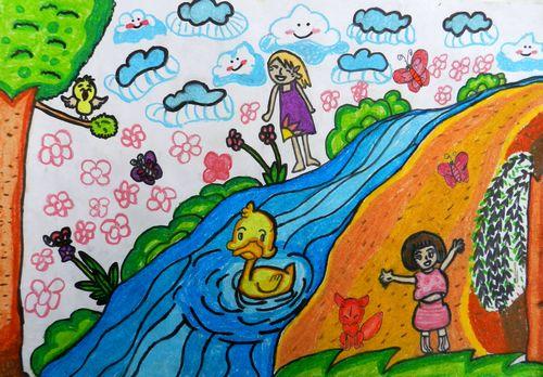 春天来了/少儿绘画作品/儿童画/网络美术馆