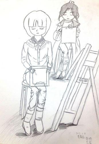 速写 同学 少儿绘画作品 儿童画 网络美术馆