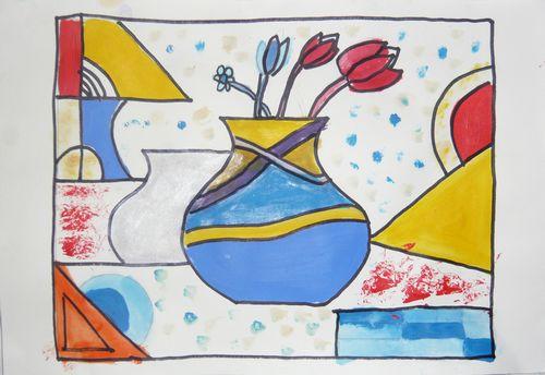 简笔画 花瓶/花瓶/少儿绘画作品/儿童画/网络美术馆_中国少