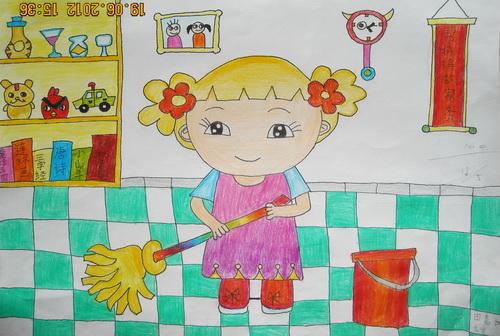 帮妈妈做家务的画 我帮妈妈做家务的画 帮妈妈做家务儿童画