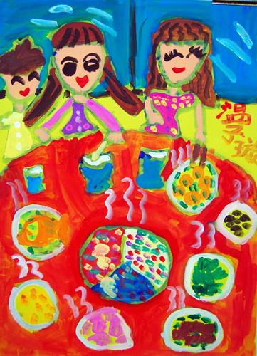 儿童画/网络美术馆福鼎美食文化图片