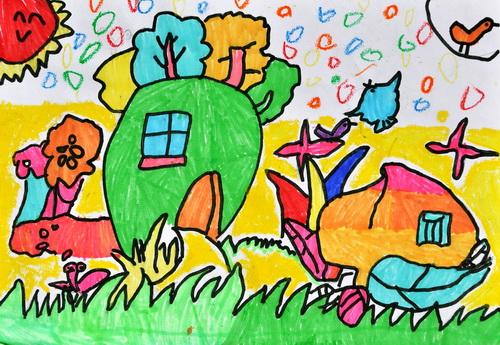 《未来的房子》/少儿绘画作品/儿童画/网络美术