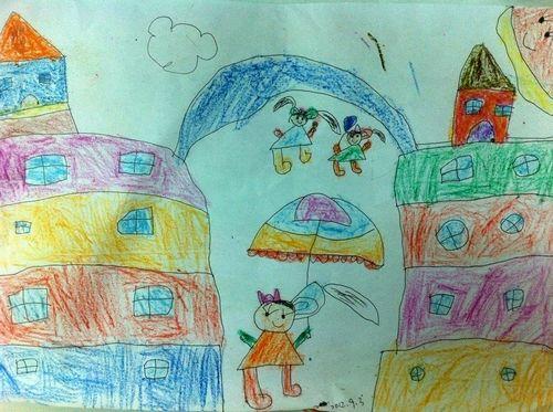 快乐的校园/少儿绘画作品/儿童画/网络美术馆