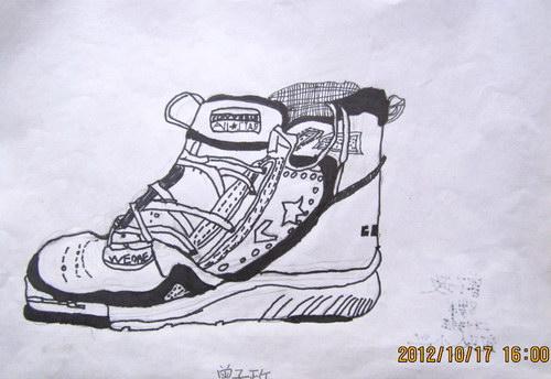 《鞋子》/少儿绘画作品/儿童画/网络美术馆