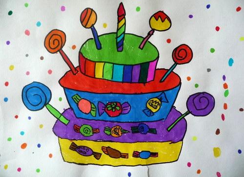2013少儿美术大赛_《我的生日蛋糕》/少儿绘画作品/儿童画/网络美术馆_中国少儿 ...