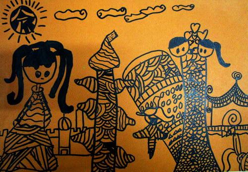 2013少儿美术大赛_奇特的房子/少儿绘画作品/儿童画/网络美术馆_中国少儿美术教育网