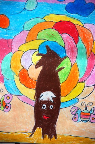 2013少儿美术大赛_《五彩树》/少儿绘画作品/儿童画/网络美术馆_中国少儿美术教育网