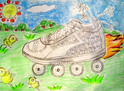 小学生鞋子高清图片