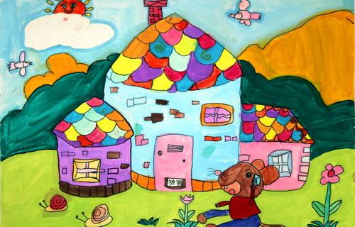 美丽家园儿童画/美丽家园获奖儿童画/绿色家园儿童画