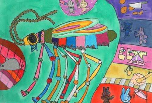 机器虫 少儿绘画作品 儿童画 网络美术馆