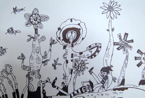 优秀儿童黑白画作品