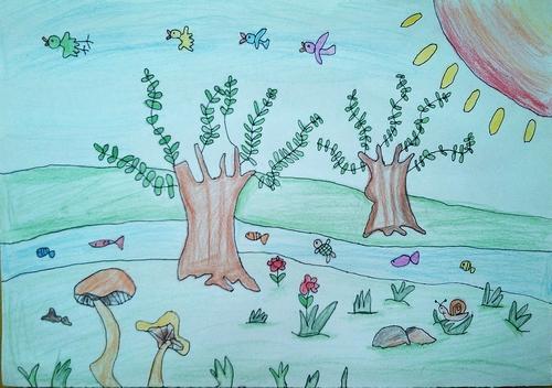 春天来了/少儿绘画作品/儿童画