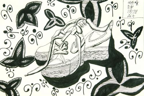 鞋子/少儿绘画作品/儿童画/网络美术馆