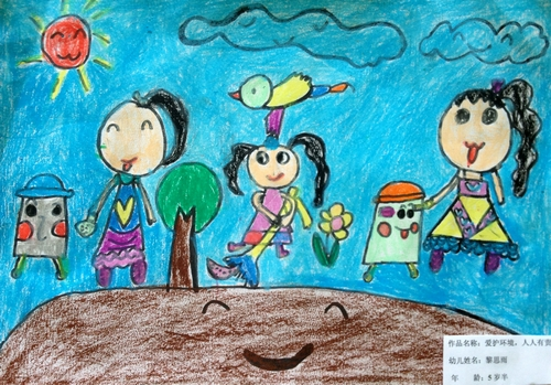 爱护环境,人人有责/少儿绘画作品/儿童画/网络美术馆