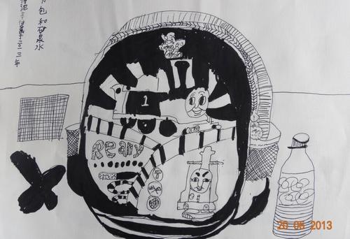 《可爱的书包》/少儿绘画作品/儿童画/网络美术馆