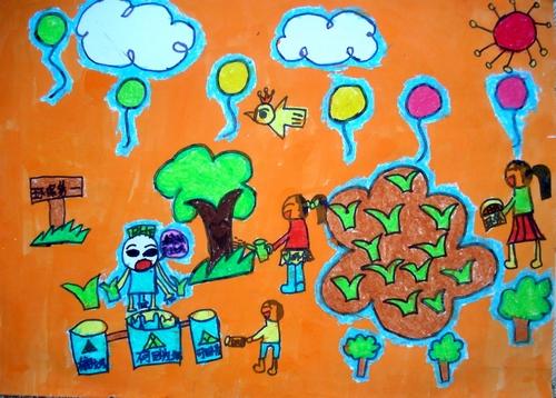我们美丽的家园 少儿绘画作品 儿童画 网络美术馆