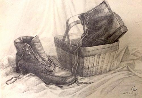 皮鞋与篮子