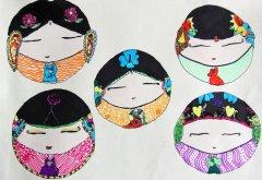 五个可爱的中国娃娃图片
